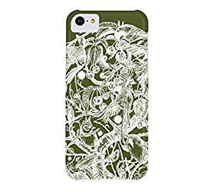 The Cherry Tree iPhone 5c Army green Barely There Phone Case - Design By Humans