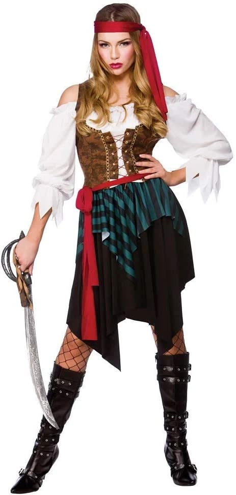 Wicked - Disfraz de pirata del caribe para mujer, talla M - 42-44 ...