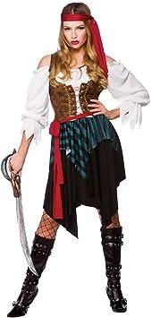 Wicked - Disfraz de pirata del caribe para mujer, talla M - 42-44 cm ...