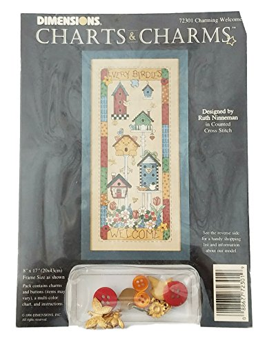 Dimensions Charts and Charms Charming Welcome Counted Cross Stitch Pattern
