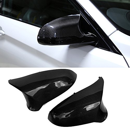 Carbon Fiber Mirror Covers - Replacement carbon fiber mirror cover caps for BMW M3 M4 F80 F82 F83