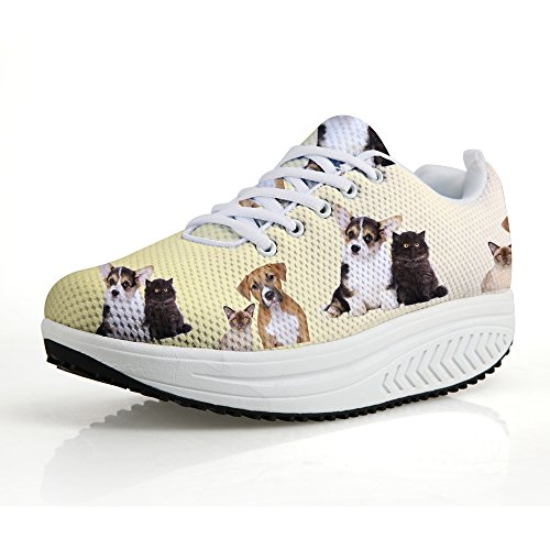 Women's Dogs Puppies Sneakers Walking HUGSIDEA 2 Printed aO6wgqE