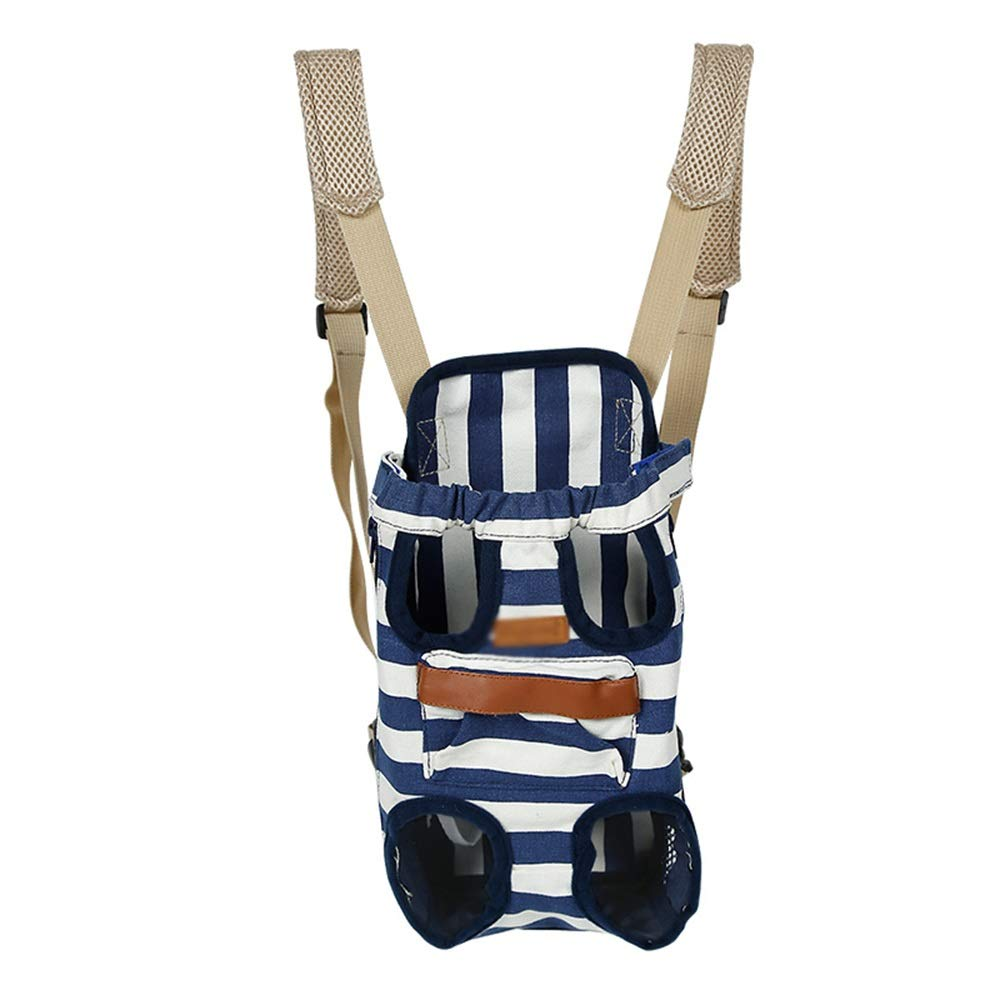 bluee SPet Backpack Outgoing Carrying Case Chest Shoulder Bags Handbag Dog Bags Cat Cage (color   bluee, Size   S)