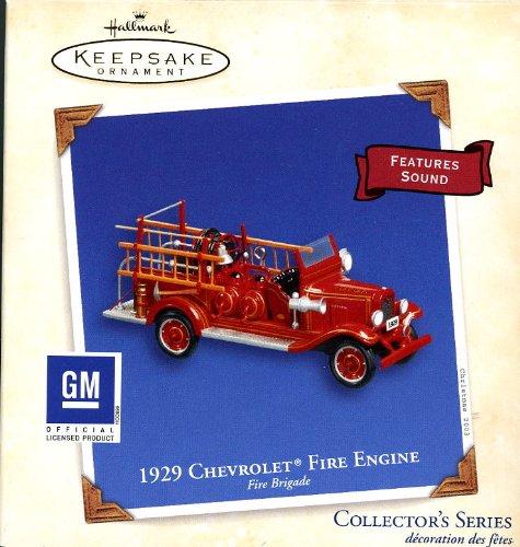 Fire Engine Ornament (Hallmark 1929 Chevrolet Fire Engine - Fire Brigade 2003 QX8449 by Keepsake)