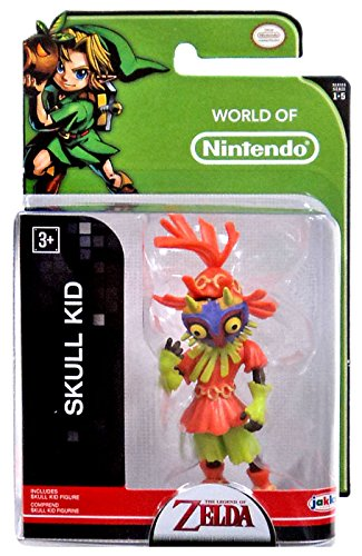 World of Nintendo, The Legend of Zelda, Skull Kid Action Figure, 2.5 Inches - Skull Kid Costume Zelda