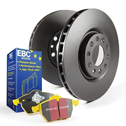 EBC Brakes S13KF1291 S13 Kits Yellowstuff and RK Rotors Incl. Rotors and Pads Front Rotor Dia. 12.6 in. S13 Kits Yellowstuff and RK (Ebc Sport Rotor Kit)