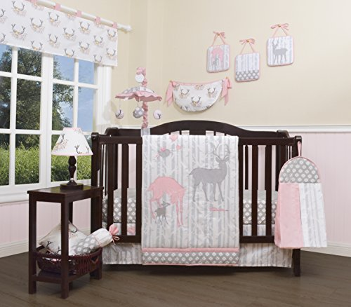 GEENNY Baby Girl Deer Family 13 Piece Nursery Crib Bedding Set from GEENNY