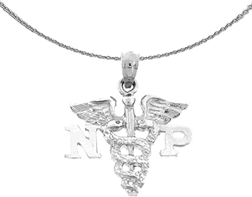 14 mm Jewels Obsession 14K White Gold Trolley Pendant