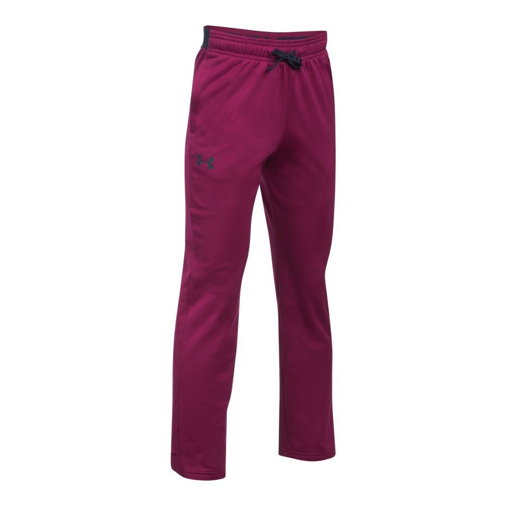 Under Armour Boys' Brawler Slim Pants,Black Currant (923)/Midnight Navy, Youth Small by Under Armour