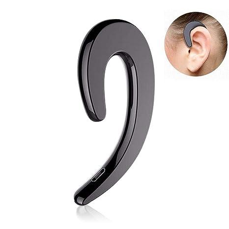 Teepao - Auriculares inalámbricos Bluetooth con micrófono y cancelación de Ruido, Auriculares con Gancho para