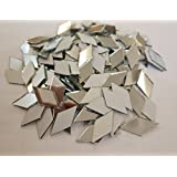 Set Of 200pcs RUIXUAN Diamond Shape Mosaic Tiles Mirror Glass Home Decoration Crafts DIY Accessory (1/2x1inch)