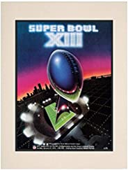 """1979 Steelers vs Cowboys 10.5"""" x 14"""" Matted Super Bowl XIII Program - NF"""