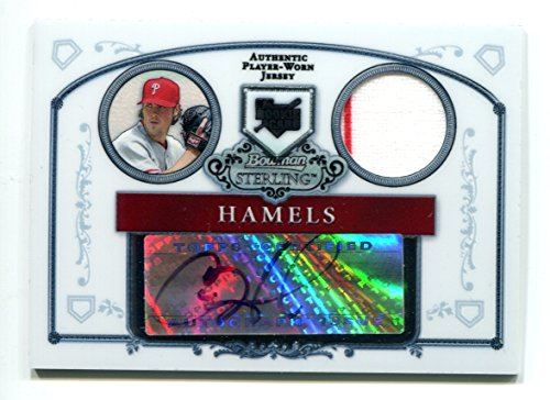Cole Hamels AUTO 2006 Bowman Sterling RC Rookie Card Philadelphia Phillies Autographed Jersey Trading Card