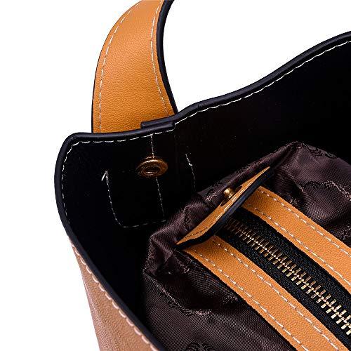 Brown À Sac Tassel L'épaule Fashion En Loisirs brown Voyages Les Du De Solides Cuir Dos Cartoon qZ55cdv1