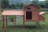 Large 99'' Deluxe Solid wood Hen Chicken Cage House Coop Huge w/ Run nesting box