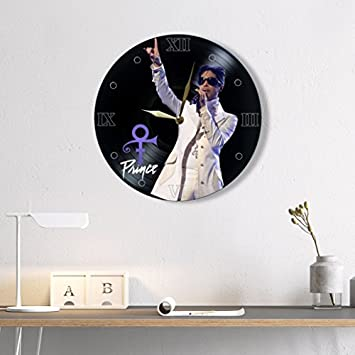 Prince Vinyl Clock Painted – Prince Wall Clock Vinyl – Best Gift for Music Lover – Original Wall Home Decor