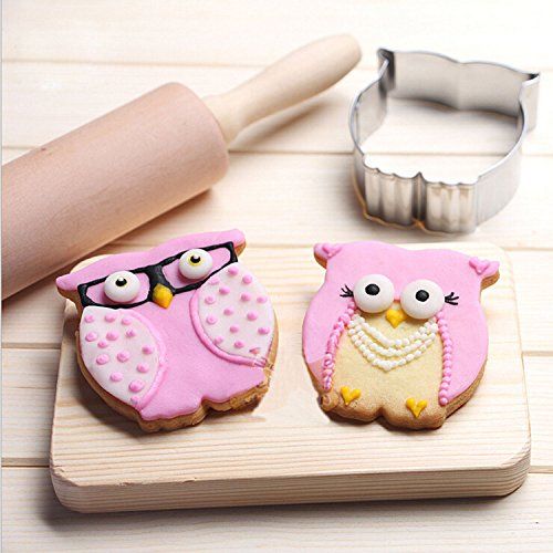 (GXHUANG Animal Owl Sugar Cookie Cutter - Stainless Steel, for Anniversary Birthday Christmas New Year Party )