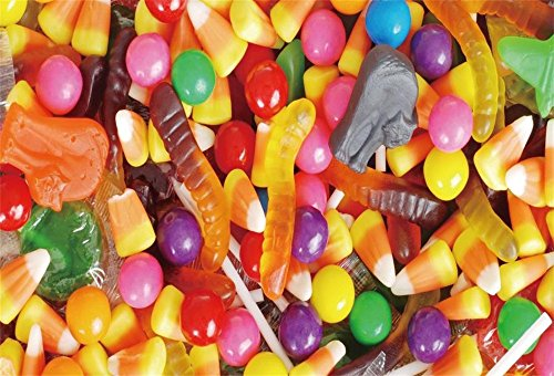 LFEEY 5x3ft Candy Photography Backdrop for Birthday Parties Colorful Sweets Jelly Beans Background Candyland Baby Shower Photo Booth Props