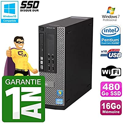 Dell PC 790 SFF Intel G640 RAM 16 GB disco duro SSD 480 Go DVD ...
