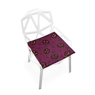 HUAPIN Kids Outdoor Chair Cushions Spider Web and Halloween Holiday Soft Non-Slip Memory Foam Chair Pads Cushions Seat for Home Kitchen Office Desk 16x16 Inch Outdoor Seat Cushion: Home & Kitchen