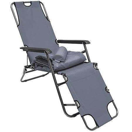 Ideale in Spiaggia Beautissu Cuscino per lettini Prendisole e sedie a Sdraio Flair RL Balcone 190x60x8cm Giardino Grigio Chiaro