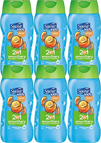 (Suave Kids Shampoo+Conditioner 2-N-1 Smoothers Peach 12 Ounce (354ml) (6 Pack))