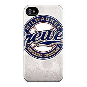Hot LJv888qSzr Case Cover Protector For Iphone 4/4s- Milwaukee Brewers