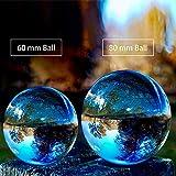 SunAngel Photo Crystal Ball,Optical Glass Spheres, K9 Crystal Sphere Ball, LensBall Crystal Photography Ball (80MM+60MM +2PCS LED Crystal Stand)