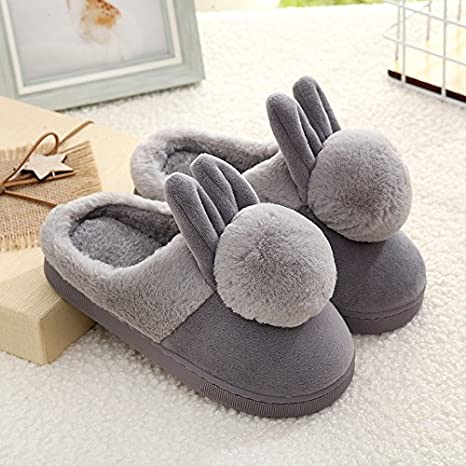 YMFIE L'automne et l'hiver pour Les Hommes Femmes Enfants Children's Coton Pantoufles Chaussures Thermique antidérapant Europe Taille: 28-45