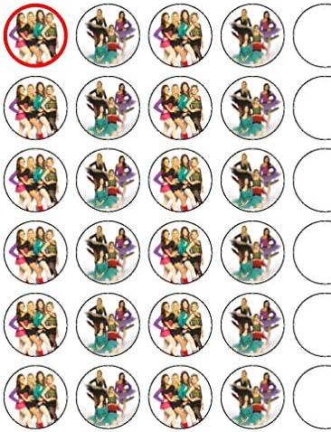 "Essbare Cupcake-Topper""Dance Academy Dance"", 3,8 cm, 24 Stück"