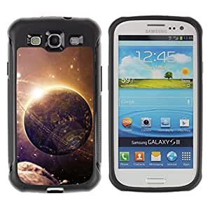 """Pulsar iFace Series Tpu silicona Carcasa Funda Case para Samsung Galaxy S3 III I9300 , Espacio Mundo extranjero Planeta Arte Futuro Cinturón de Asteroides"""""""