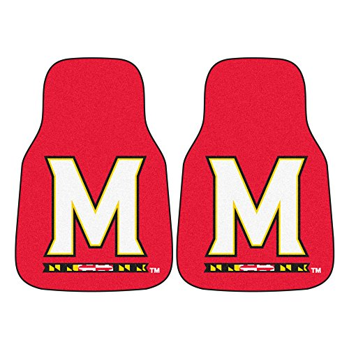 (FANMATS NCAA University of Maryland Terrapins Nylon Face Carpet Car)