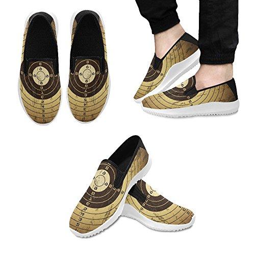 Sneakers Slip-down Con Teschio Musicale Su Impronte Digitali Per Fori Di Proiettili Da Uomo