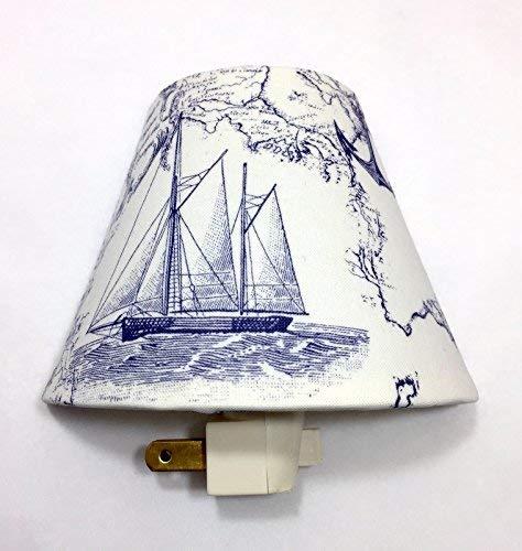 Ship at Sea Plug In Night Light/Nursery Decor/Baby Shower Gift/Home Decor/Kid's Room/Lighting / Hallway Light/Housewarming / Nautical/Anchors