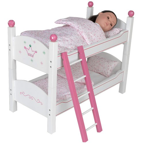 18 inch doll stackable bunk bed hand painted furniture bedding mattress ladder beds fit. Black Bedroom Furniture Sets. Home Design Ideas