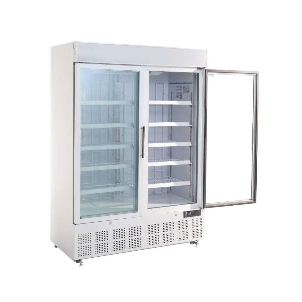 Polar congelador de pantalla con caja de luz 920 L comercial ...