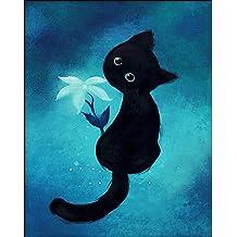 Gracefulvara Black Cat DIY 5D Diamond Painting Cross Stitch Crafts Kit