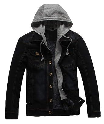Vitryst Men Oversized Fleece Lined Tactical Rugged Wear Denim Jacket