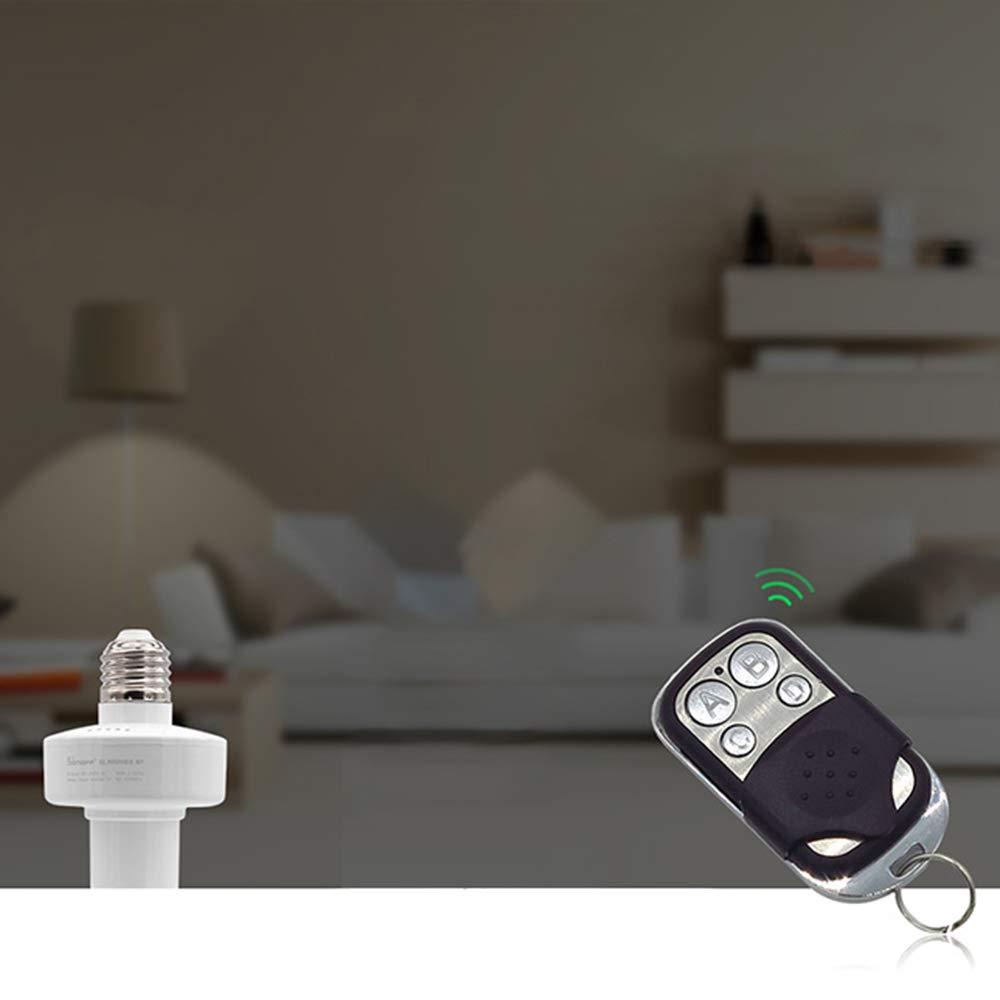 Docooler 2pcs Smart 433 MHz Control Remoto Sonoff RF con 4 Botones Inal/ámbricos para Pared Interruptor de Luz LED Garaje Puerta Control Remoto Llave