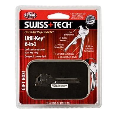 Swiss+Tech UKCBSS-1 Utili-Key 6-in-1 Tool