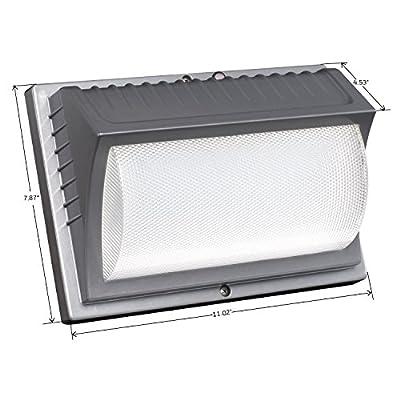 Honeywell ME014051-82 LED Security Wall Light, 4000 Lumens, Titanium Gray