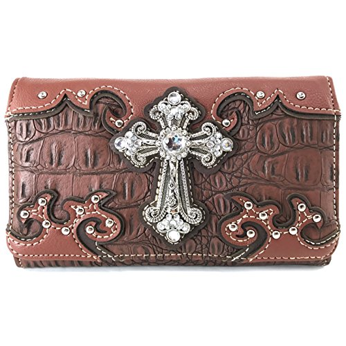 Justin West Concealed Carry Western Croc Cross