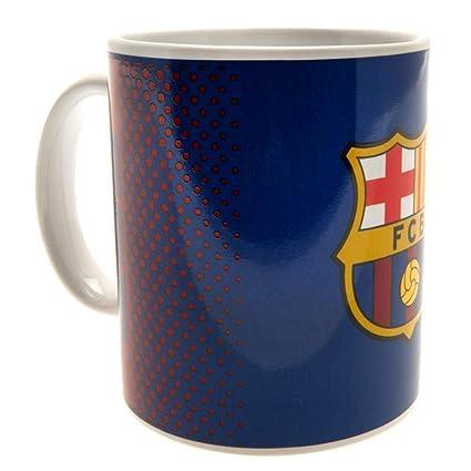 Mercury Taza Mug Diseño F.C. Barcelona, Cerámica, Azul Marino, 8.0x8.0x9