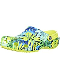 Mens and Womens Classic Graphic Clog | Casual Comfort Slip On, Lightweight, Water,