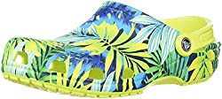 Crocs Unisex Classic Printed Clog Mule, Tennis Ball Greencerulean Blue, 6 Us Men8 Us Women