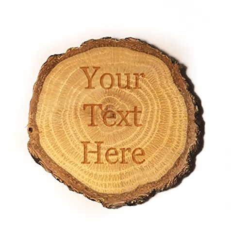 Customized 3D Laser Engraved Personalized Wooden Rustic Log Custom Magnet with Your Text ()