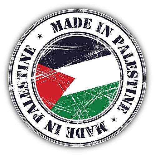 DG Graphics Made in Palestine Grunge Flag Stamp Art Decor 5