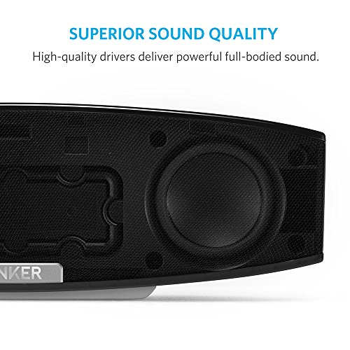 Anker Premium Stereo Bluetooth 4.0 Speaker (A3143), 20W Output from Dual 10W Drivers, with Two Passive Subwoofers, Portable Wireless Speaker for iPhone, iPad, Nexus, and More - Black