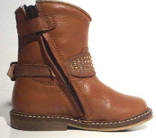 Pinocchio Stiefel Biker Boots Leder Reißverschluss braun