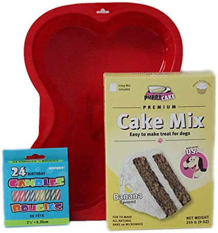 Phenomenal Amazon Com Puppy Cake Mix Dog Birthday Cake Kit With Bone Birthday Cards Printable Giouspongecafe Filternl